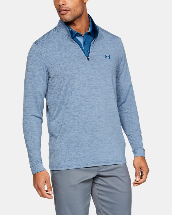Men's UA Playoff 2.0 ¼ Zip, Blue, pdpMainDesktop image number 0